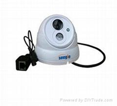 有线高清红外半球网络摄像机