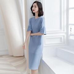 Women Oversize Loose Bell Sleeve Knitting Dress