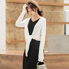 Women Causal loose knot Knitting Cappa thin Sweater