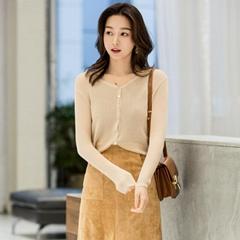 Women Super light thin V-neck Open Cardigan Knitwear