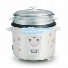 Cylinder straight type electric rice cooker with flower housing