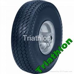 "4.10/3.50-4 3.50-6""  Hand truck flat free tire Polyurethane foam tire"