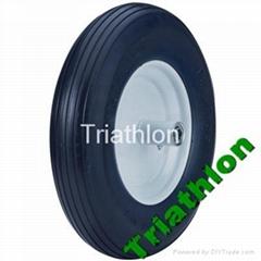 16x4.00-8 flat free tire Polyurethane foam tire wheelbarrow tire PU foam tire
