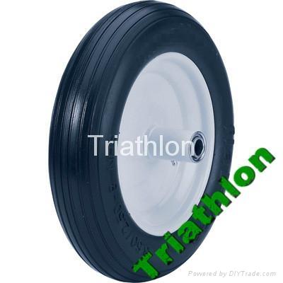 3.50 / 3.25-8 Korea flat free tire Polyurethane foam  tire PU foam tire   1