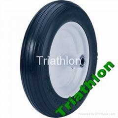 3.50 / 3.25-8 Korea flat free tire Polyurethane foam  tire PU foam tire