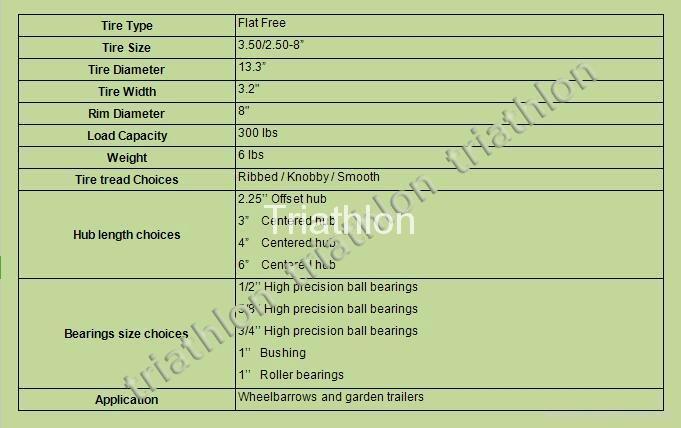 3.50 / 3.25-8 Korea flat free tire Polyurethane foam  tire PU foam tire   2