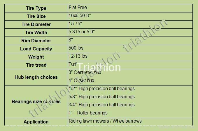 16x6.50-8 flat free tire Polyurethane foam tire wheelbarrow tire PU foam tire 2