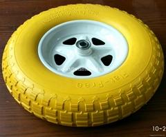 4.00-8 Wheelbarrow Solid rubber tires PU foam tyres Flat free wheels