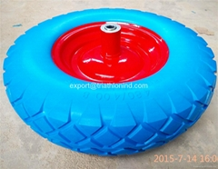 4.00-8 Wheelbarrow Solid rubber tire PU foam tyre Flat free wheel