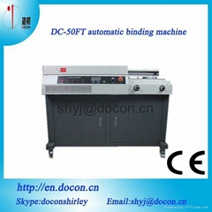 DC-50FT automatic book binding machine  A3 size perfect binder,glue binding mach