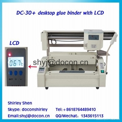 DC-30+ desktop glue binding machine/glue book binder/perfect binder machine