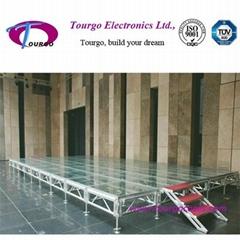 Aluminum Transparent Glass Stage