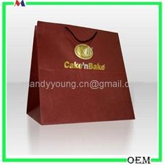 Matt Laminated Paper Gift hand bags Manufacturer