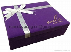 Luxury paper gift package box for cosmetic gift set package