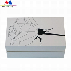 Unique design paper gift pack box with UV spot printed