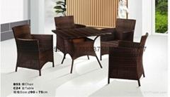 供庭院藤编桌椅