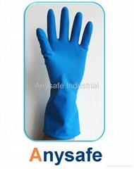 Sprayed flocklined household gloves