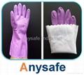 PVC flocklined glove 2
