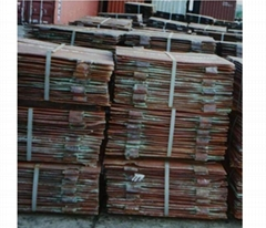 We sell LME price Copper cathode Purity Copper (Cu) Grade A, 99.99%