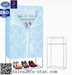 Portable Bedroom storage wardrobe non woven folding fabric wardrobe cabinet