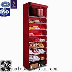 Purple color folding closed cabinet