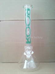 Classic glass bong water pipe smoking pipe