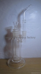 exquisit  easy to clean thick glass bong smoking pipe bubbler glass waterpipe