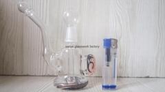 mini exquisite glass bong water pipe smoking pipe