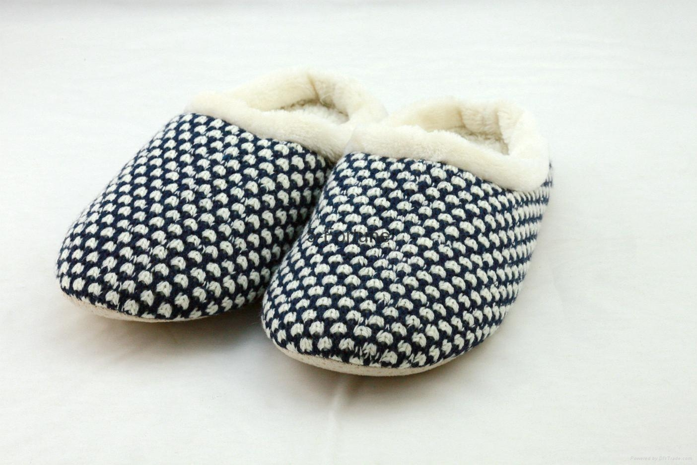 ladies sheep embroidery fuzzy sherpa and print sole slipper  1