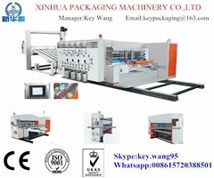 High speed flexo printing & slotting & rotary die-cutting machine(lead edge feed