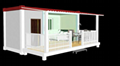 prefabricated flat pack 20ft container house luxury 1