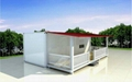 prefabricated flat pack 20ft container house luxury 2