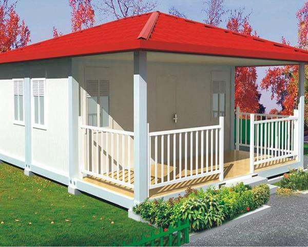 prefabricated flat pack 20ft container house luxury 5