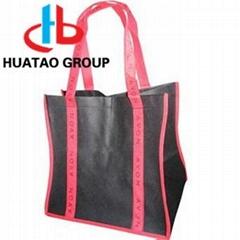 slik printing PP/RPET nonwoven tote shopping bag