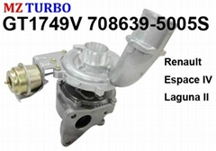 GT1749V 708639-5005S Turbocharger suit for Renault Espace IV Laguna II