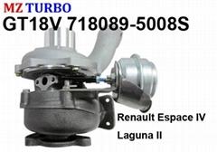 GT18V 718089-5008S Turbocharger suit for Renault Espace IV Laguna II G9T702 2.2