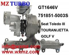 MZ TURBO GT1646V 751851-5003s Turbocharger  for Seat VW SKODA