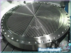 forged Finish-machined tube sheets for heat exchangers