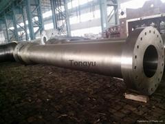 hydraulic turbine shaft Custom 20SiMn Forged Alloy Steel Shafts With Double Flan