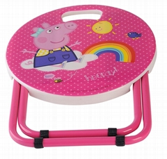 Cartoon Iron And Portable children chair Stool for Camping