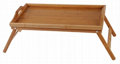 Folding wooden bamboo Bed Tray Table