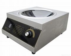 Desktop wok induction cooker