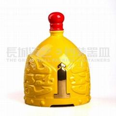 陶瓷酒瓶原创设计帝王将相系列(黄)