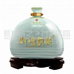 陶瓷酒瓶原创设计吉祥祈福系列