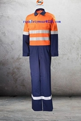 flame retardant  Hi vis Two Tone Anti static work coverall
