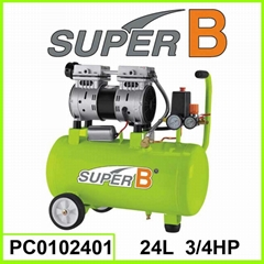 24L 3/4 HP Silent Air Compressor