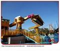 Large amusement thrilling rides top spin space travelling rides 3