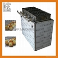 Automatic rolling octopus roasting machine