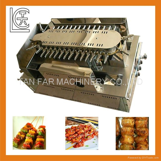 Auto.Rotating Bar.B.Q. Machine & Yakitori Machine,Satay Robots  7