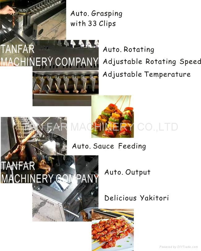 Auto.Rotating Bar.B.Q. Machine & Yakitori Machine,Satay Robots  6